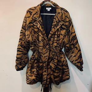 Retro Silk Cheetah Print Jacket